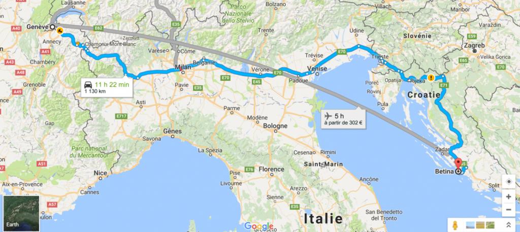 Carte France Italie Croatie.Road Trip Croatie Suisse France Ete 2013 Ma Famille En Voyage