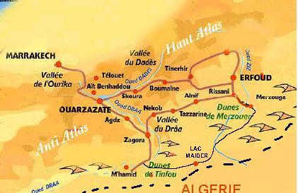carte-ouarzazate-Mhamid