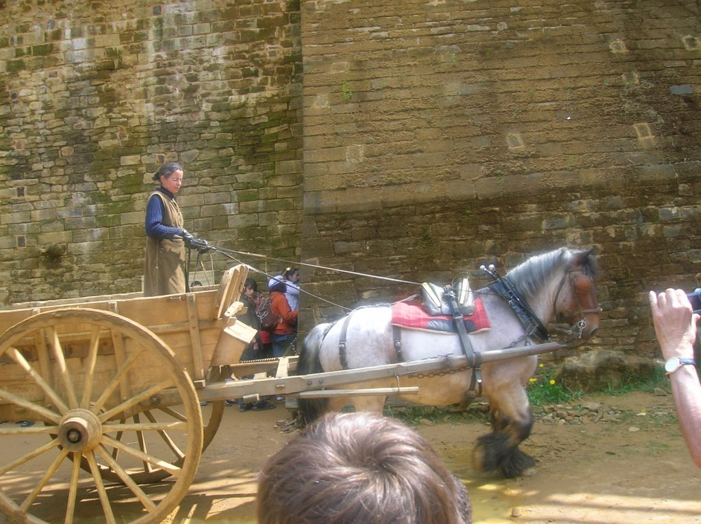 2009-mai-Guedelon-transport-materiaux-chevaux-lourds-MFV